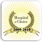 Hospital of Choice Awards – American Alliance of Healthcare Providers 2010